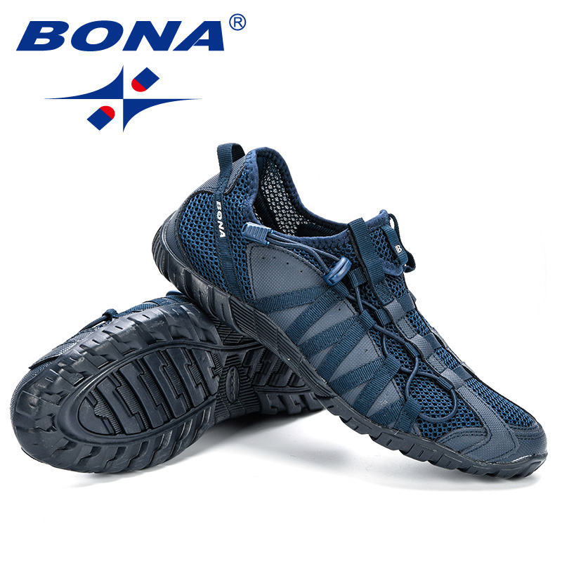 BONA 2019 New Popular Casual Shoes Men Lac-up Lightweight Comfortable Breathable Walking Sneakers Man Tenis Feminino Zapatos 6
