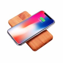 Qi Wireless Charger 10000mAh Slim Power Bank for iPhone X Samsung Xiaomi Mobile Phone Charger Wooden Fast Wireless Charging Pad цена в Москве и Питере