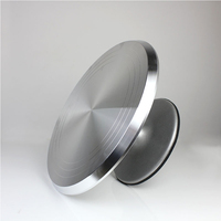 free ship Baking tool 12 inch alloy mounted cream cake Turntable Rotating table stand base turn around Decorating silver metal