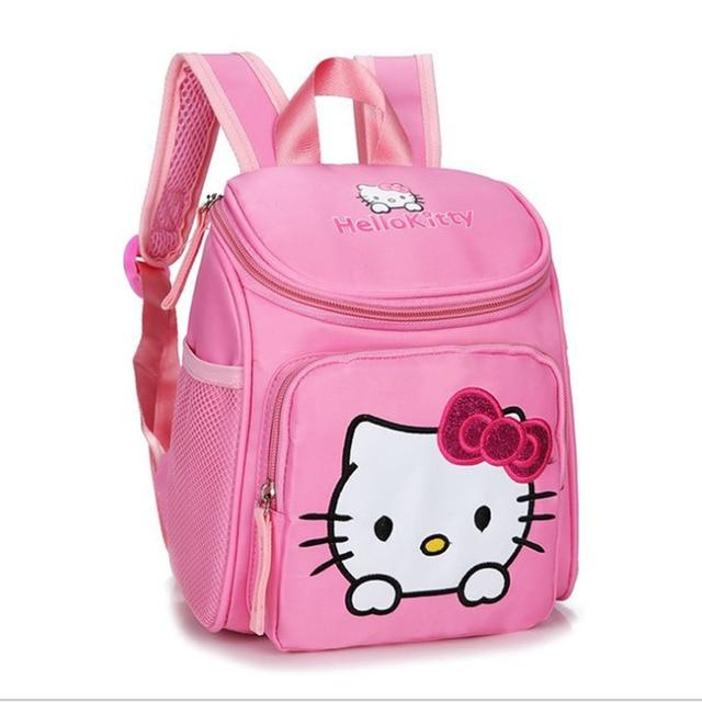 3f581e8498 Mini Hello Kitty School bag for 2 4 years old Children Blue Spiderman  Schoolbag Orthopedic Backpacks Snack Pack for boys girls