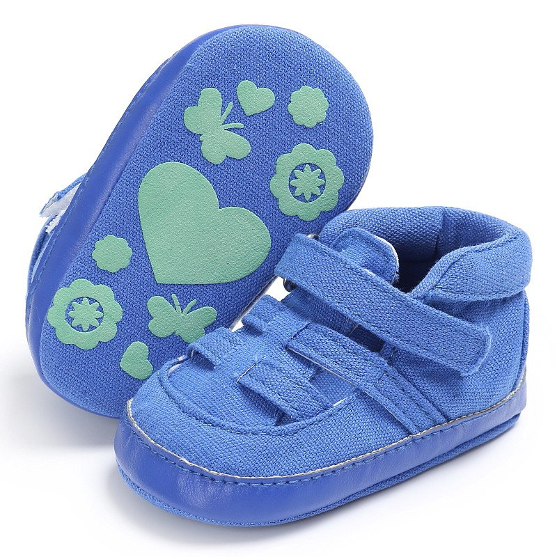 3 Colors Kids First Walkers Canvas Soft Bottom Anti-Slip Solid Color Shoes 2017 Summer Newborn Baby Boys Casual Shoes