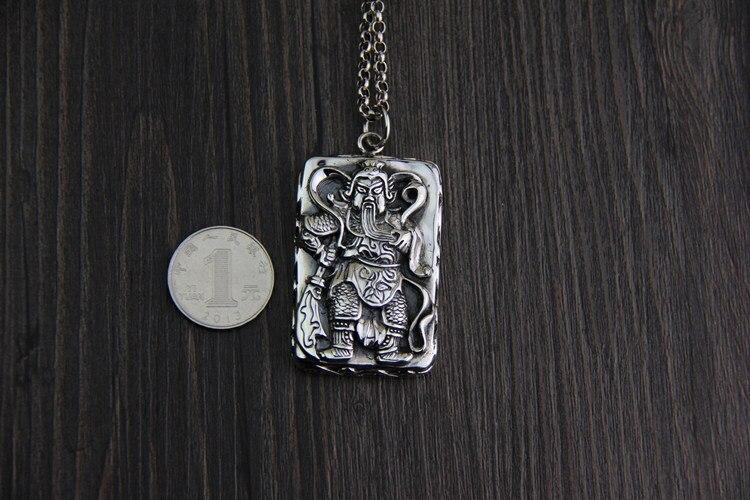 C & R Real 925 pendentif en argent Sterling collier rétro chinois Ares tag pendentifs hommes Thai argent pendentifs bijoux fins - 2