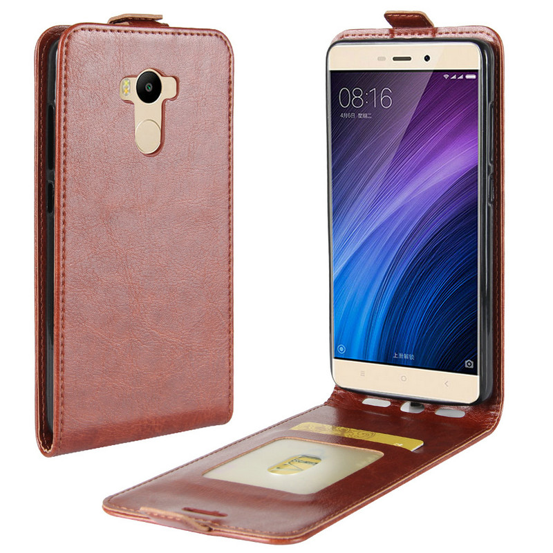 WIERSS Retro Leather Cover case For <font><b>Xiaomi</b></font> <font><b>Redmi</b></font> <font><b>4</b></font> <font><b>pro</b></font> <font><b>prime</b></font> <font><b>3GB</b></font> RAM <font><b>32GB</b></font> ROM 5.0