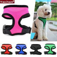 Dog Harness Breathable Vest Collar Perro Nylon Dog Harness Vest Puppies Soft Mesh Pet Harness for Dogs Cats Small Medium Chest