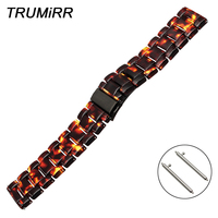 Resin Watchband for Fossil Q Founder Wander Crewmaster Grant Marshal Explorist Quick Release Strap Steel Buckle Belt Watch Band