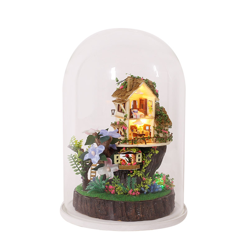 Elegant DIY Dollhouse With Furnitures Micro Landscape Craft Ornament Assembly Model Handmade SONG OF FOREST Gift