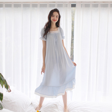 5f97d9d148 Free Shipping 2017 New Princess Nightdress Long Blue and Pink Pijamas Women s  Nightgown Sleepwear Ladies Nightshirt