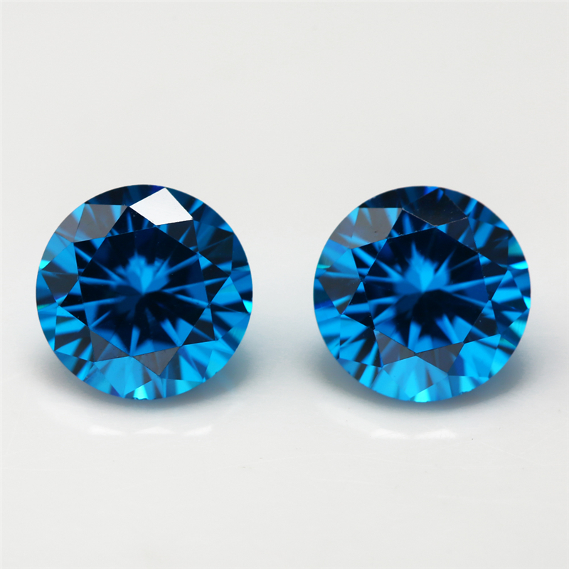 200pcs 1mm 2mm 3mm 0 8 Dark Sea Blue Color Aaaaa Round Brilliant Synthetic Cubic Zirconia Factory Pieces In Beads From Jewelry Accessories On