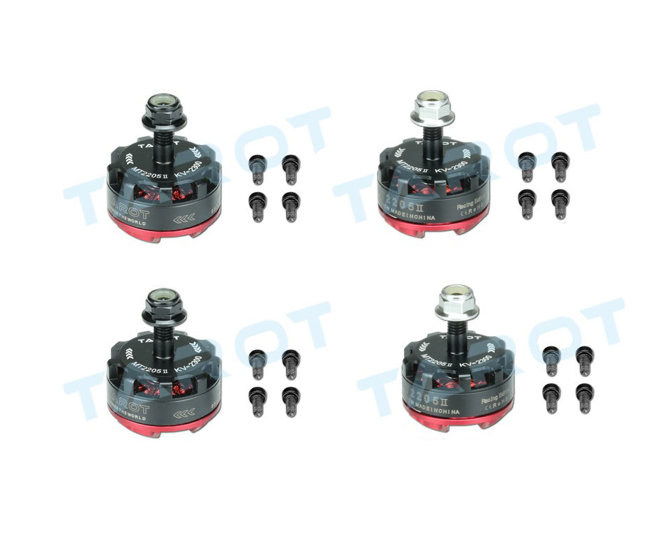 JMT 2 Pairs Таро MT2205 II 2300KV Двигателя TL400H14 + TL400H15 CW/CCW для DIY Quadcopter RC Мини Гоночный дрон 180/190/200/220