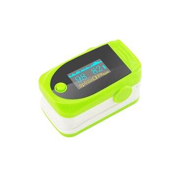 8B6 SpO2 Portátil LED Dedo Oxímetro de pulso de Oxigênio No Sangue PR Monitor de cor Verde bonita olhando