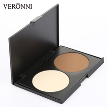 Makeup 2 Color Shading Powder Contour Face Highlight Shadow Concealer Nude Reduce the facial oily and Shape Contours of face