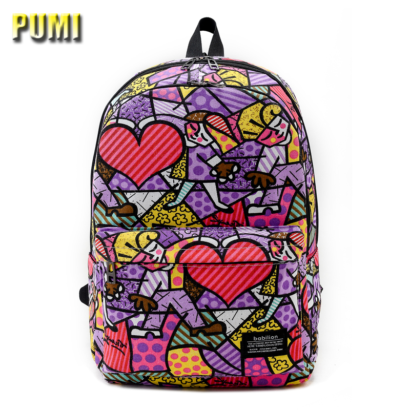 Women Graffiti Oxford Backpack Female Cartoon School Bag for Teenager Girl Student Big BookBag Hip-Hop Daily Casual Shopping Bag 2017 fashion women waterproof oxford backpack famous designers brand shoulder bag leisure backpack for girl and college student