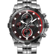 CASIMA марка часы мужчины многофункциональный спорт кварцевые наручные часы мода Роскошные световой таймер мужские часы водонепроницаемые 100 м #8306
