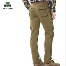 NEW Men's Autumn and winter Cargo Pants New Designer Solid Straight Trousers Multi-pockets Cargo Pants szie 30-44