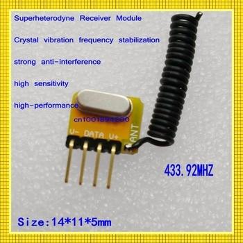 Micro Radio Receiver Module DC3V-5V Signal RX Module 433.92mhz Small Size Circuit Board Superheterodyne Receiver Module RX