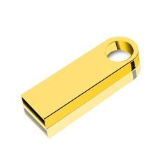 2019 Stainless Steel metal waterproof USB Flash drives 64GB pen drive 32GB 16GB 8GB 4GB Gold/Silver flash Memory Stick pendrive