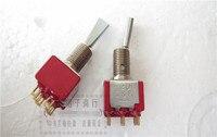 Original neue 100% Vereinigten Staaten import 7201 2A250V 5A120VAC gold fuß kippschalter 6 pin 2 getriebe kippschalter fan griff