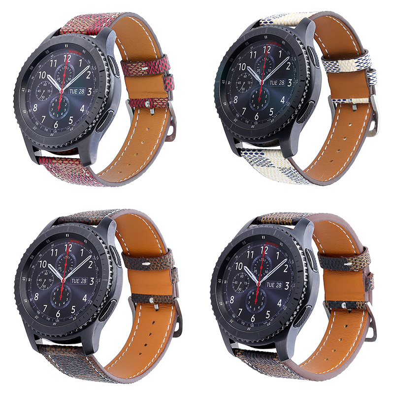 FOHUAS Genuine Leather Watchband for Samsung gear s3 wrist Smart Watch Band Link Strap Bracelet Links Watchband animal Leather стоимость