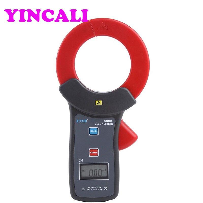 Braçadeira de alta Precisão de Medição de corrente de fuga AC Vazamento Current Meter ETCR6800, corrente AC e medição on line - 2