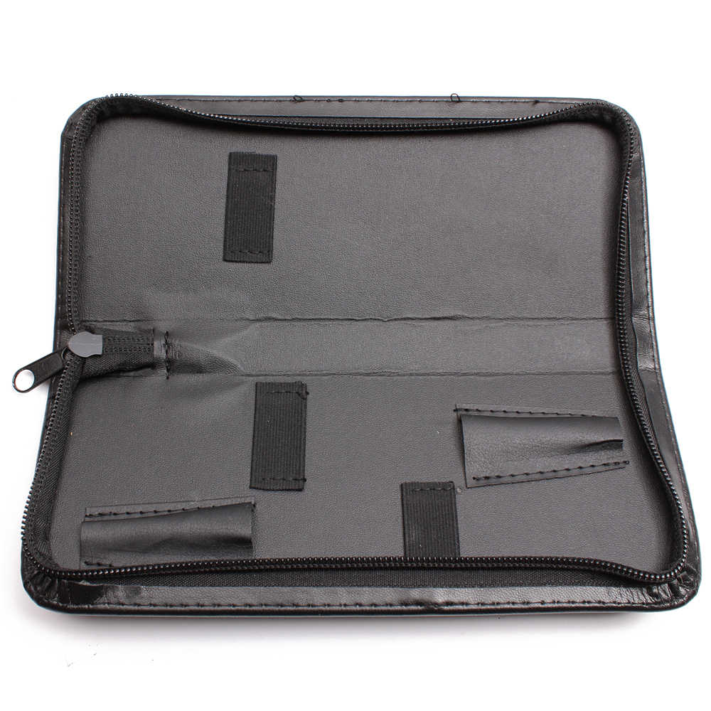 Lederen Case Professionele Kappers Schaar Zak Salon Kapper Holster Pouch Holder Salon Styling Tool Kit voor Schaar C6801