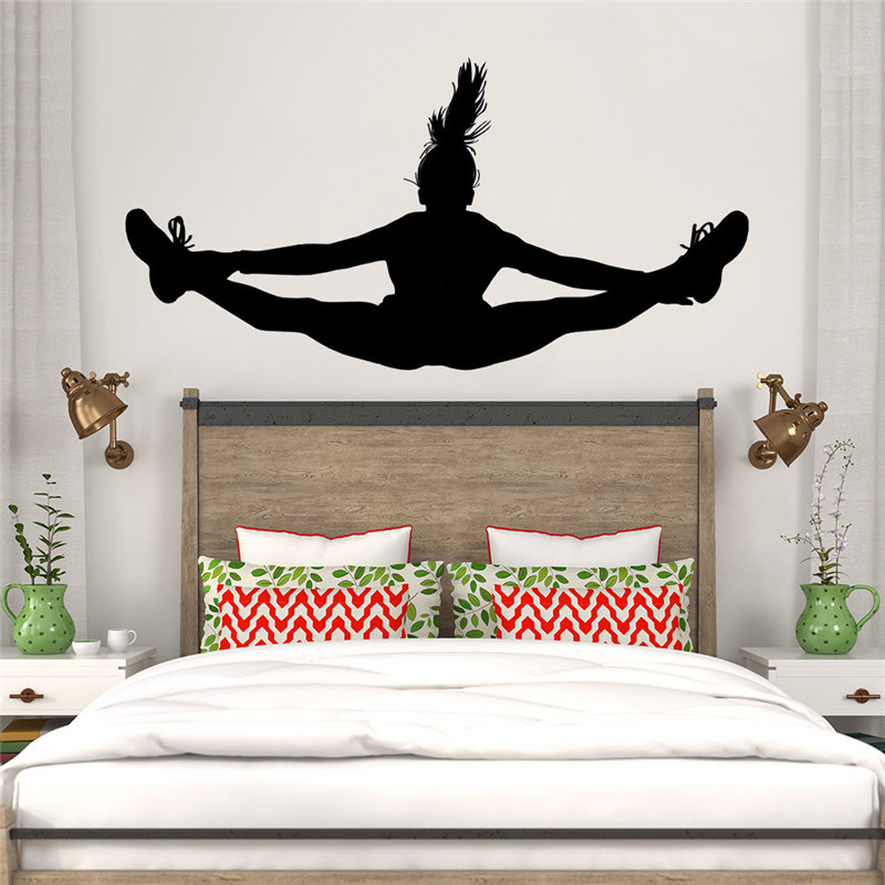 US $11.04 21% OFF|Dancing Girl Wall Decal Vinyl Home Decor Teens Girls  Bedroom Art Mural Removable Custom Colors Wallpaper Vinilos Paredes-in Wall  ...
