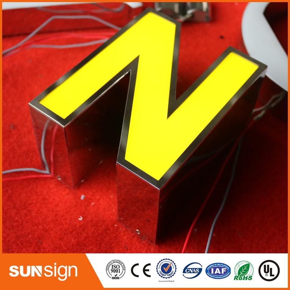 Custom Shop Door Decorative LED Sign Light Letters
