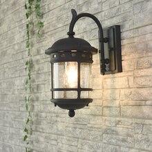 Открытый Винтаж настенный светильник уличный Настенный бра E27 Водонепроницаемый открытый двор лампы Открытый коридор балкон светильник для загородного дома терраса лампа