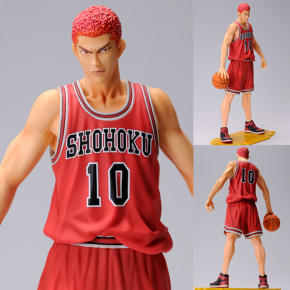 Tronzo Presale 25cm Original TK M.I.C Slam Dunk Spirit Collection Vol.1 Hanamichi Sakuragi PVC Action Figure Model Toys GiftTronzo Presale 25cm Original TK M.I.C Slam Dunk Spirit Collection Vol.1 Hanamichi Sakuragi PVC Action Figure Model Toys Gift
