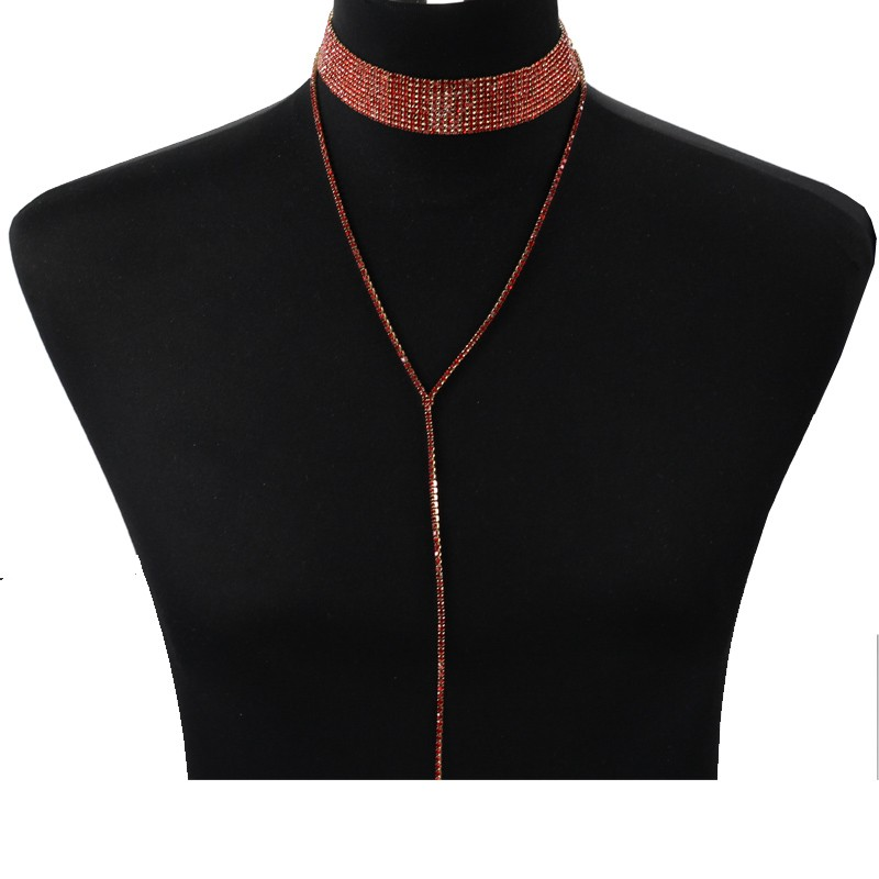 Rhinestone Crystal Luxury Choker Statement Necklace Jewelry 8