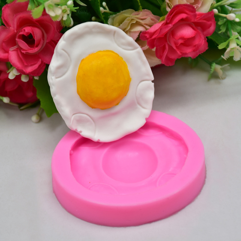 WISHMETYOU Eggs Silicone Soap Mold Creative Breakfast Cake Decorating Tools Cute An Egg Shaped Craft Kitchen Baking Biscuit Mold in Soap Molds from Home Garden