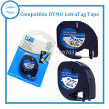 Alta qualidade compatível para DYMO LetraTag Fita Plástica 91201 impressora de etiquetas de fita fabricante da etiqueta