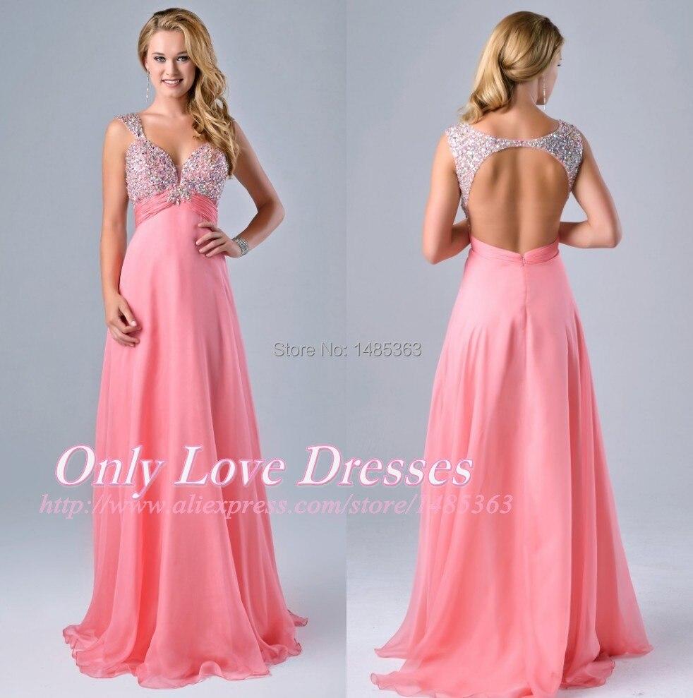 vestidos largos abiertos por la espalda