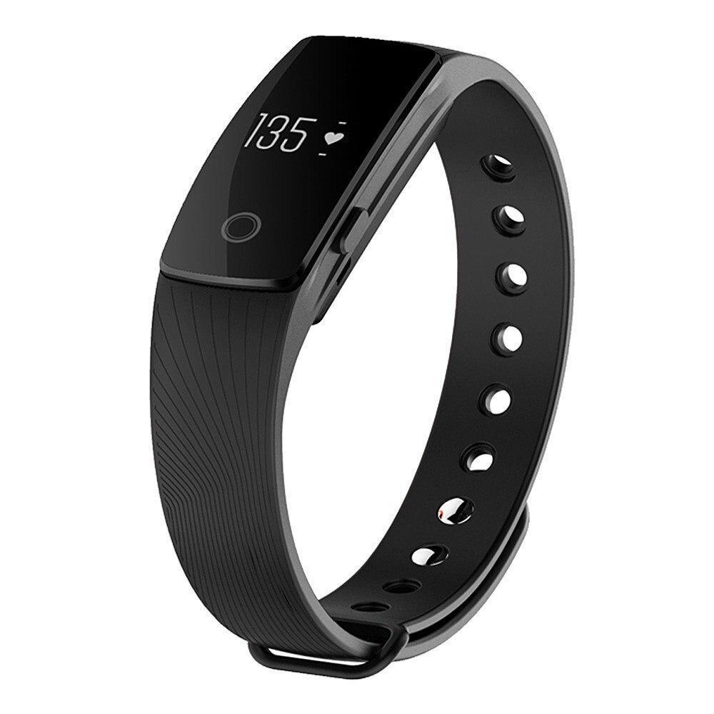 imágenes para Timeowner monitor del ritmo cardíaco de bluetooth 4.0 pulsera inteligente inteligente muñequera gimnasio rastreador de banda inteligente para android ios iphone 6 6 s