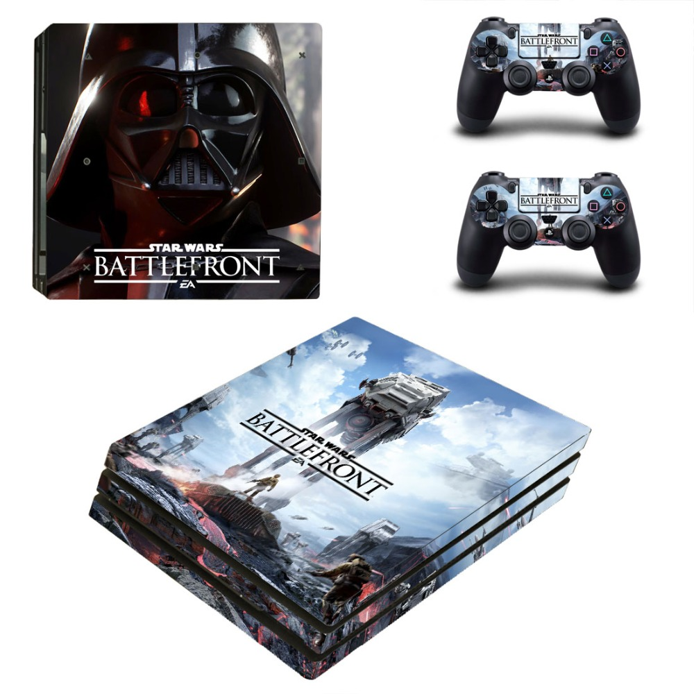 OSTSTICKER Warrior Vinyl Skin Sticker for Sony PS4 Pro For Sony Play Station 4 Pro Console and Controllers Skins Decal