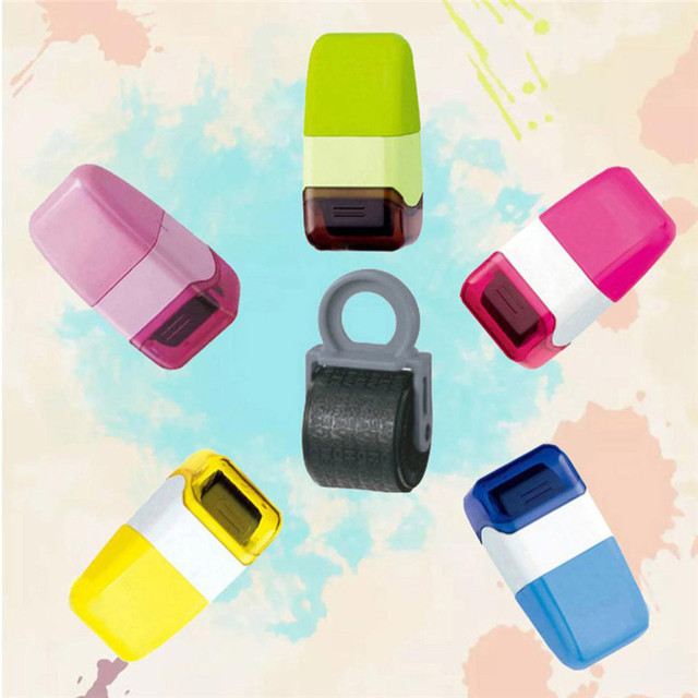 1Pcs Guard Your ID Roller Stamp SelfInking Stamp Messy Code Security Office 5