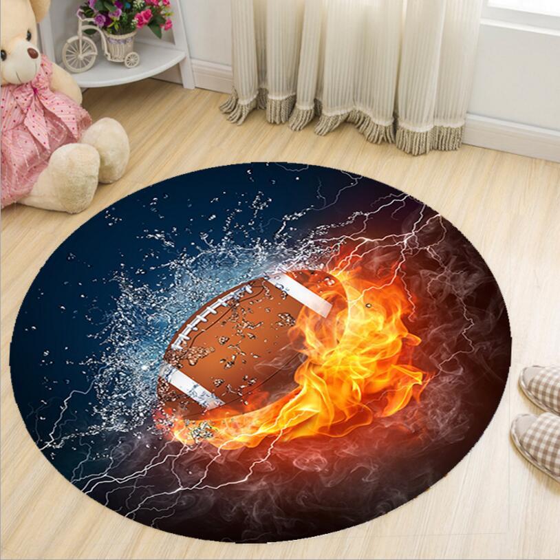 EMS FREE Cartoon 3D Printing Round Shape Kids Bedroom Carpet Living Room Study Floor Mat Tea Table Rug Chair Foot Pad Easy wash