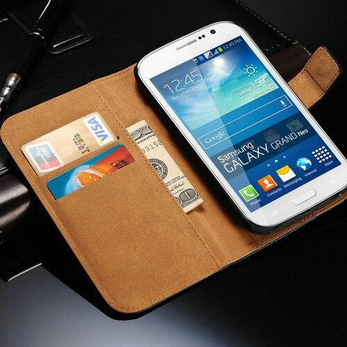 Luxury Genuine Leather Flip Case For Samsung Galaxy Grand