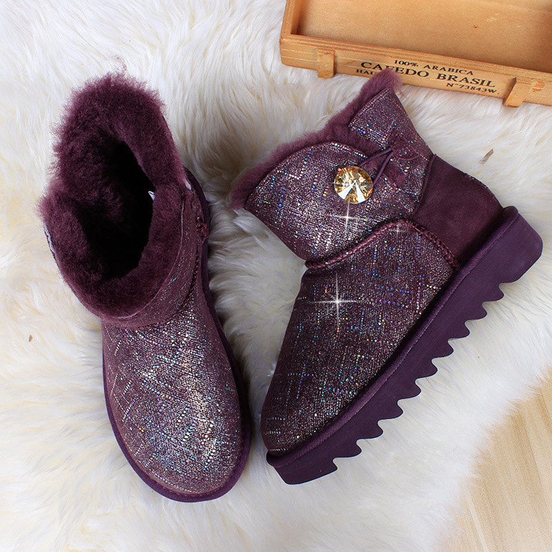 Australia High Quality Genuine Leather Classic 100% Wool snow boots Women Boots Warm winter shoes for women