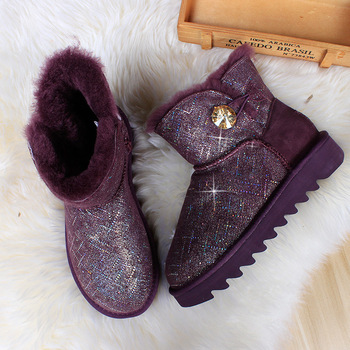 Australia High Quality Genuine Leather Classic 100% Wool snow boots Women Boots Warm winter shoes for women habuck women australia classic style snow boots winter warm genuine leather warterproof high quality ankle boots large size