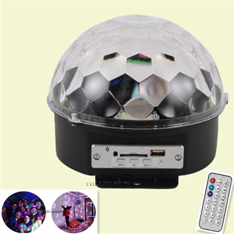 La UE/BLUETOOTH MP3 mágica de cristal bola giratoria control remoto 6 colores RGB 3IN1 bolas de disco luces para las Partes /luces de escenario LED