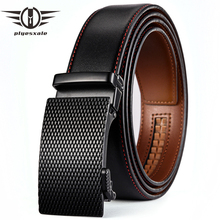 Plyesxale Famous Brand Belt Men 2018 Cowhide Genuine Leather Automatic Buckle Belts Black Business Formal Dropshipping G70
