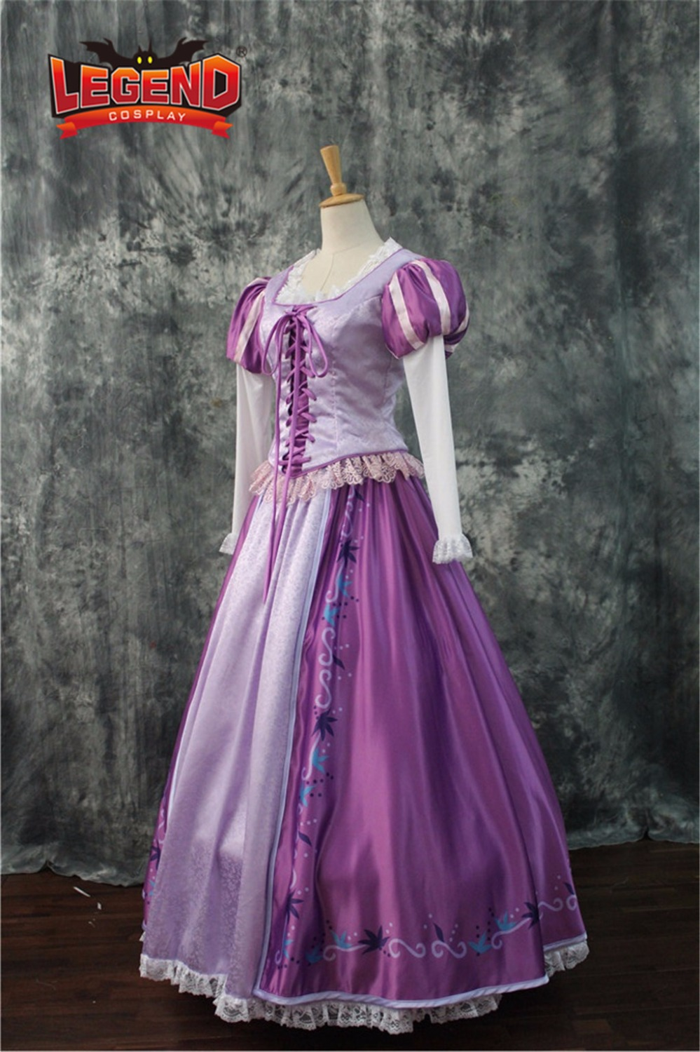 Tangled Rapunzel Princess Dress Costume Adult dress cosplay costume custom made