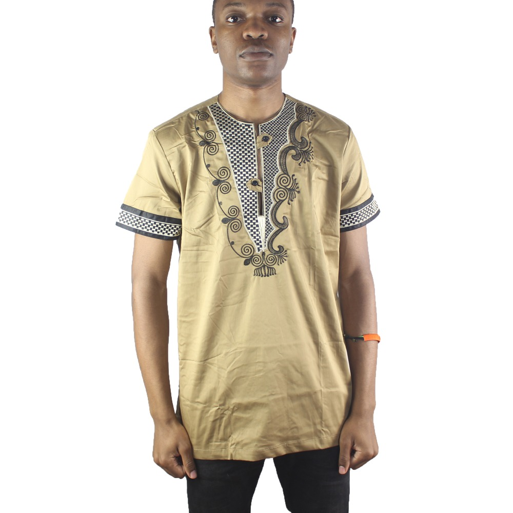 Africa Asymmetric Embroidery Men s Dashiki Tops Henley Collar Ethnic Shirts For Male Summer Wearing in Africa Clothing from Novelty Special Use