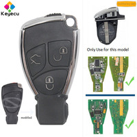 KEYECU Replacement Modified New Smart Remote Key Shell Case Housing With 3 Buttons FOB for Mercedes Benz CLS C E S