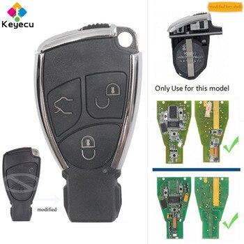 Keyecu Pengganti Dimodifikasi Baru Smart Kunci Remote Shell Kasus Perumahan dengan 3 Tombol-Fob untuk Mercedes-Benz CLS C E S