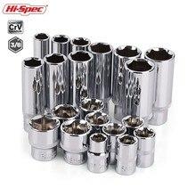 Hi Spec 10Pc 3/8 นิ้วยาวชุดซ็อกเก็ตCRV 10 19 มม.ซ็อกเก็ตอะแดปเตอร์สำหรับratchet Socket Wrench Spanner Repair Tool