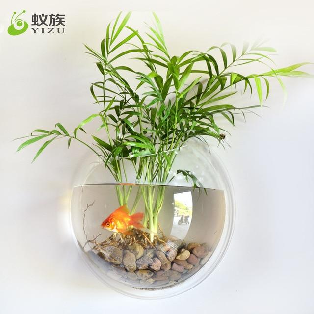 Wall Mirror Fish Tank Hanging On Wall Vase Flower Pot Acrylic
