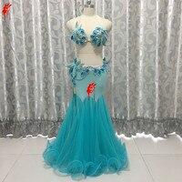 Rhinestones belly dance bra top+long skirt 2pcs belly dance set/suit for women belly dance clothes girls ballroom dance clothing