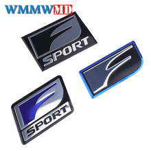 цены на Car Styling 2Pcs F SPORT Emblem Sticker Badge 3D Metal Decal For Lexus IS ISF GS RX RX300 RX350 ES IS250 ES350 LX570 CT200  в интернет-магазинах