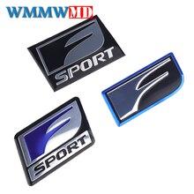 Car Styling 2Pcs F SPORT Emblem Sticker Badge 3D Metal Decal For Lexus IS ISF GS RX RX300 RX350 ES IS250 ES350 LX570 CT200 3d car led logo lights emblem badge sticker lamp for lexus es300 is300 gs430 rx330 gs300 isf free shipping 12 5x9 2cm
